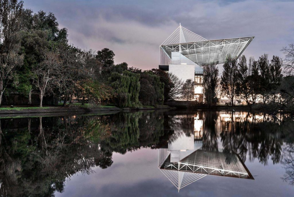 The captivating reflection of Cork's Pairc Uí Chaoimh in the Atlantic Pond. Captured by photographer David Creedon.