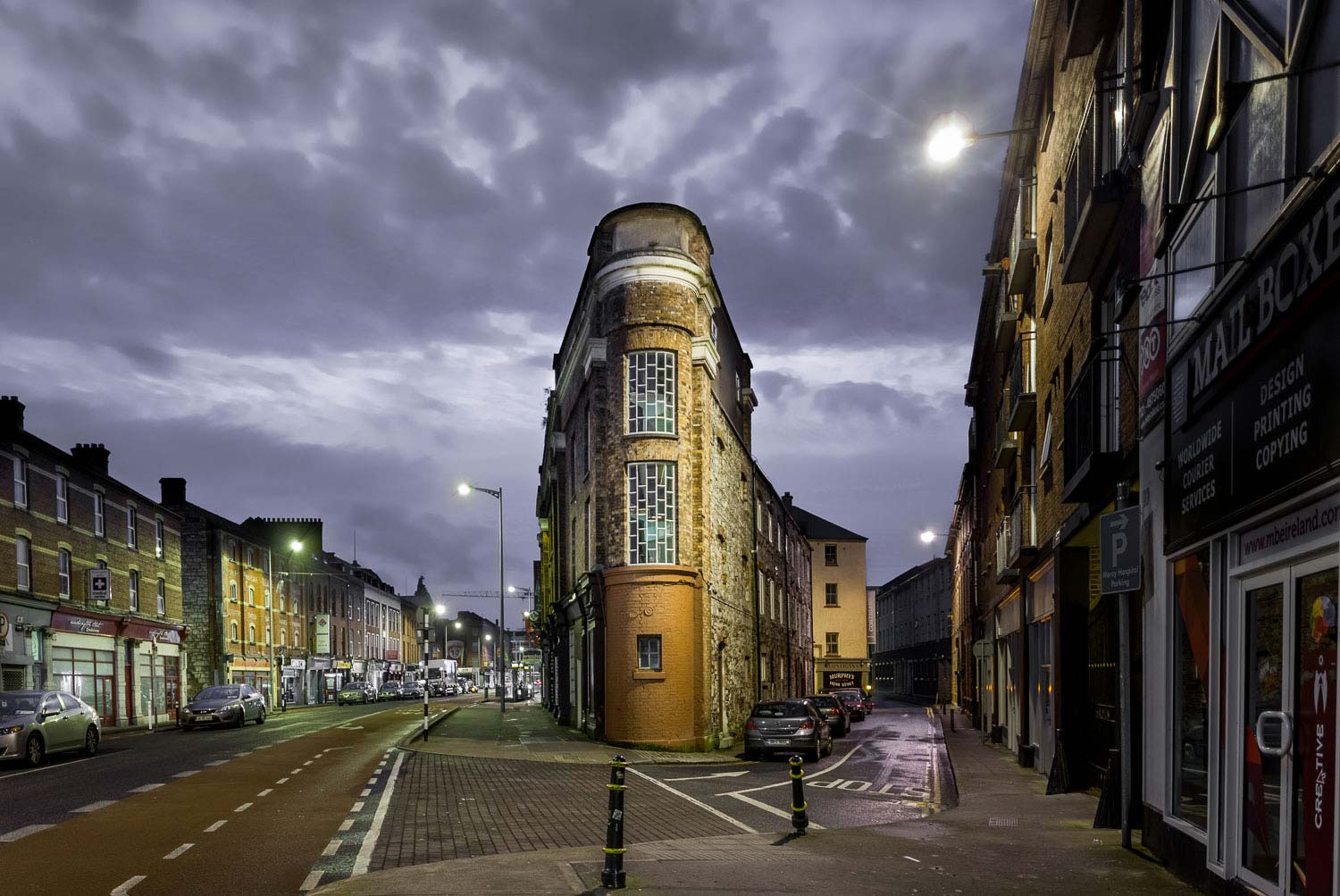 Cork's iconic flatiron building located on Washington Street in Cork City Centre. Captured by photographer David Creedon.